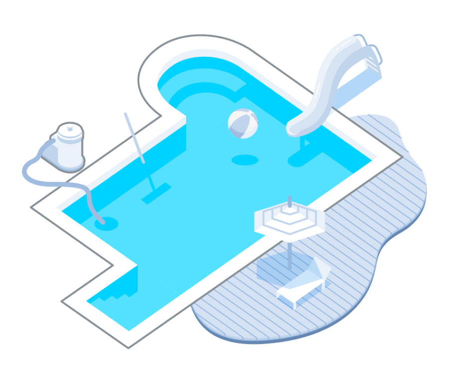 Landing page for pool constructors